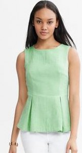 green tall peplum blouse