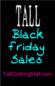 black friday tall clothing sales