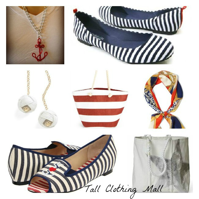 Anchor Necklace . B.F.T. by Barefoot Tess Napa Nautical Flats to size
