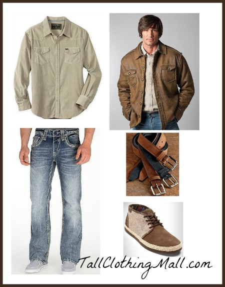 Cool u0026 Rugged Tall Mens Outfit - Tall Clothing Mall