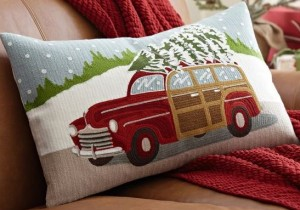 woody christmas pillow