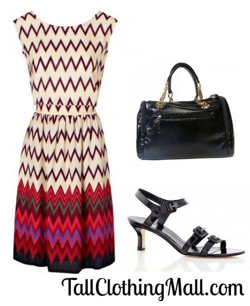 zig zag tall dress and outfit