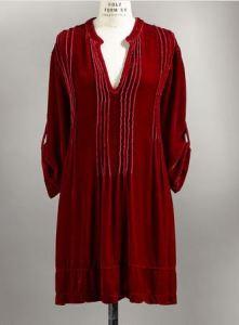 long velvet tunic