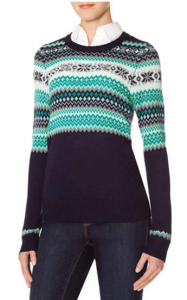 women's tall fair isle sweater