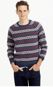 mens tall fair isle sweater