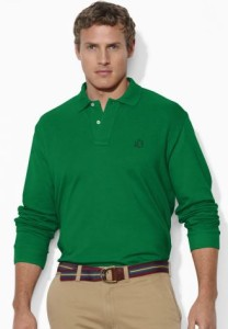 personalized big and tall polo shirt