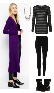 women's extra long cardigan and outfit