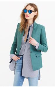 tall linen blazer