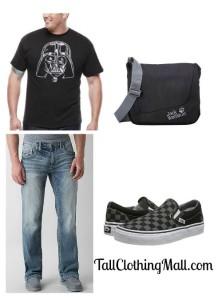 big and tall darth vadar t-shirt