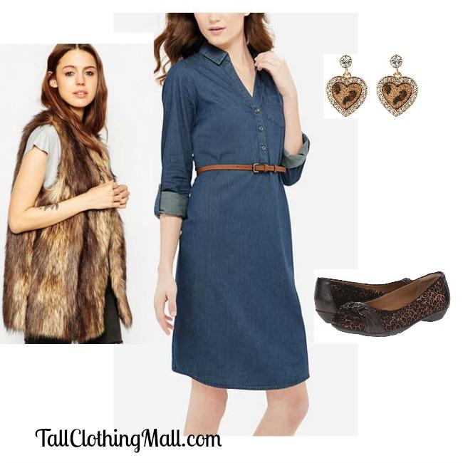 chambray dress for tall women