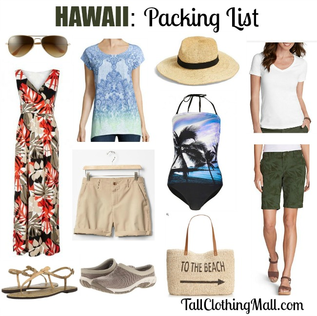 Tall Travel Style Hawaii Packing List Tall Clothing Mall