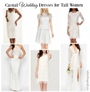 casual wedding dresses for tall women